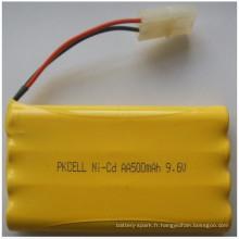 Ni-CD 9.6V AA taille batterie 500mAh batterie pack cell