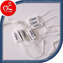 Sinicline Etiqueta de sello de plástico azul ecológico para joyería con cadena
