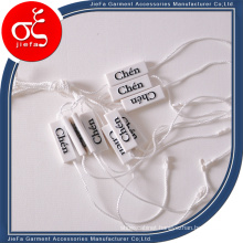 Sinicline Eco-Friendly Blue Plastic Seal Tag for Jewelry with String