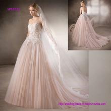 Beautiful Strapless Sweetheart Ball Gown Wedding Dress