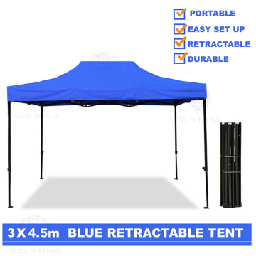 Easy Up Fold 3x4.5 Pop Up tán Gazebo