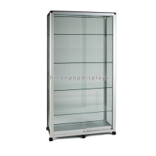 Movable Wholesale Cheap Sliding Door Glass Jewellery Display Cabinets With Lights For Collectibles