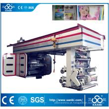 Máquina de impressão Flexographic de alta velocidade do cilindro da cor 6