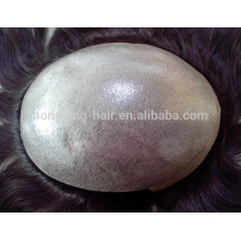 100% human hair indian remy thin skin men toupee