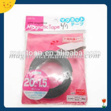 Permanent flexible magnetic strip