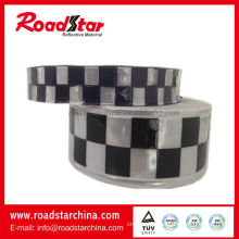 PVC reflective checker tape for police