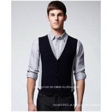Manufactory Knitting Vest Sweater para o homem