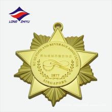 Alta calidad recuerdo metal asociación de alimentos grabado medallas de latón