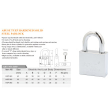 Abus Type Hardened Solid Steel Padlock with Electroplate