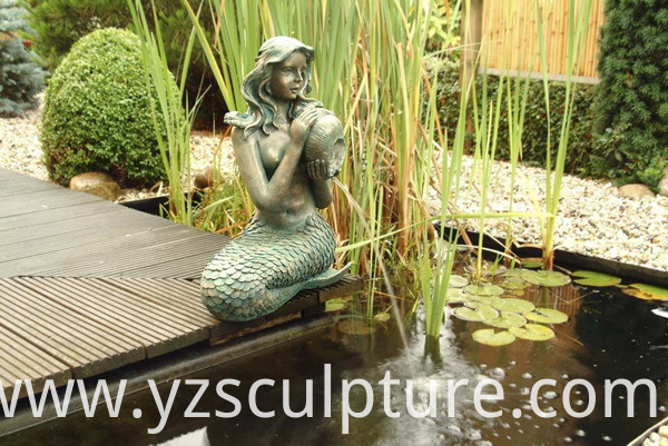 life size bronze mermaid staute
