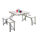 Sièges pliants en aluminium de tables basses de voyage