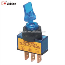 ASW-14D 20A 12VDC SPST 3 Pin ON OFF Toggle Switch Lamp 3 Pin Blue