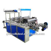 Machine de fabrication de sacs à rouleaux en plastique à commande automatique PLC