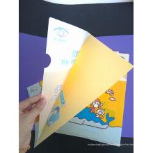 Matériel de bureau scolaire de haute qualité Dossier de dossier en plastique (sac à documents)