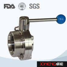 Stainless Steel Sanitary One Side Threaded One Side Welded Manual Butterfly Valve (JN-BV2010)