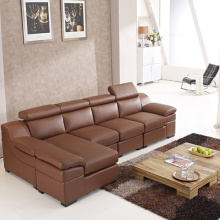 L-Shaped Leather Corner Lounge Sofa And Chaise