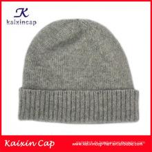 2014 Oem Winter warme kundenspezifische Beanie Cap / WholeSole Headwear mit gesponnenem Aufkleberflecken / Förderung Qualitäts-Knit Beanie-Hut
