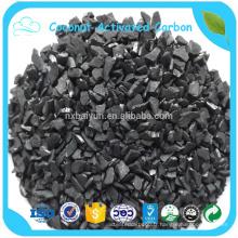 Vente chaude en charbon actif de noix de coco granulaire de l'Afrique du Sud 6x12mesh pour l'or