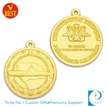 High Quality Custom 3D Both Side Gold Plating Souvenir Zinc Alloy Stamping Medal
