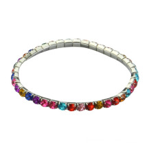 Colorful CZ diamond charm bracelet with gold plated