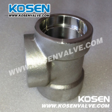 Stainless Steel Pipe Fitting Tee (3000LB)