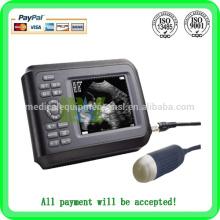 ¡¡¡Promoción!!! Mejor escáner portátil de ultrasonido portátil escáner veterinario / animal MSLVU15A