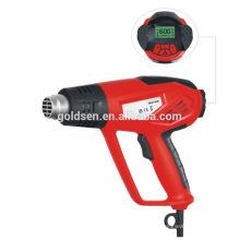 2000w de temperatura ajustable LCD de potencia de la pantalla caliente viento pistola eléctrica portátil de aire caliente pistola