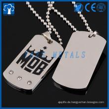 kundenspezifische Metallpaarhundetikettgewohnheit mit Ihrem Entwurf oder Logo