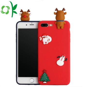 Regalo di Natale 3D Lovely Soft Silicone Phone Shell
