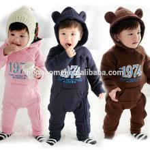 2016 à manches longues automne hiver chaud bébé barboteuse une pièce coton à capuchon bébé combinaison en vente