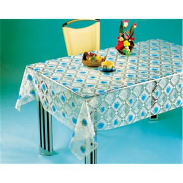 Mantel impreso transparente de alta calidad de los modelos de PVC LFGB (TJ 0068)