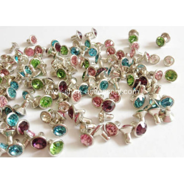 Colored Rhinestones Rivets with Round Bottom