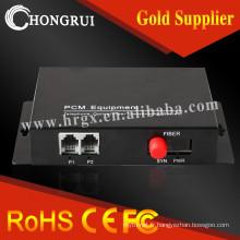 2FXO / FXS Multiplexeur de données 2Ethernet Téléphone pcm voix Multiplexeur sur émetteur et récepteur fibre optique