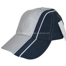 Unstructure algodón bajo perfil de gorra de béisbol con tuberías personalizadas (617)