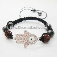 Bracelet tissé à la mode hamsa shamballa