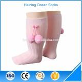 Custom multicolor cute pompom design humpty dumpty baby socks