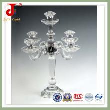 Suporte de vela de cristal para decorações de casa