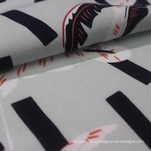 100% ткань с вискозным принтом для женского платья