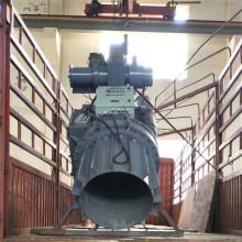 Grúa giratoria hidráulica para balsa salvavidas de bote de rescate