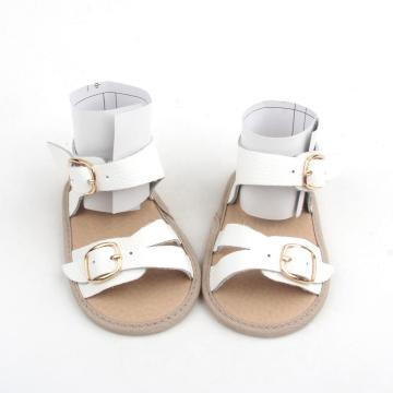 White Soft Sole Baby Sandals Girl Boy Shoes