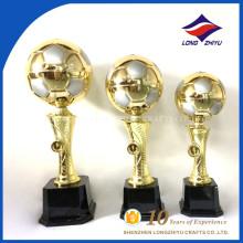 Metal Gold Sport Soccer Ball Trophy Cup