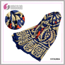 Elegant Totem Art Pattern Shawl Scarf Turkey Cotton Scarf (SNMJ004)
