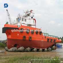 Embarcadouro do navio e lançamento de airbag de borracha marinha inflável