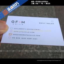 Letterpress impresso de papel de luxo on-line cartão de visita cartão de visita