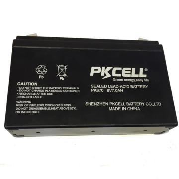 PKCELLL marca 6v 7ah batería de plomo ácido SLA para UPS