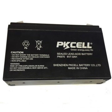 2018 PKCELL 6v 7ah Sealed lead acid rechargeable battery AGM type