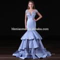 2017 new design elegant cheap cap sleeve deep v neck mermaid girls bridesmaid dress