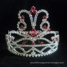 wedding hair accessories silver plated crystal crown bridal headband