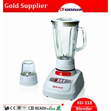 Liquidificador elétrico do alimento do frasco de vidro de Gungdong 1400ml Kd318