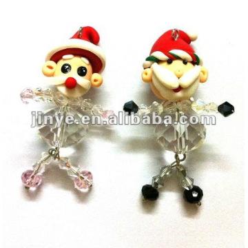 Promotion Père Noël poupée en porcelaine porte-clés cadeau de noël